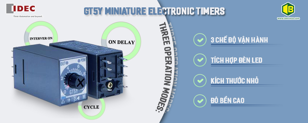 GT5Y MINIATURE ELECTRONIC TIMERS
